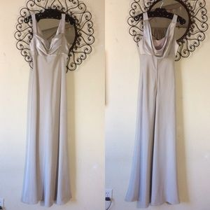 PROM Gown Silver Aspeed USA Back Cowel Cut